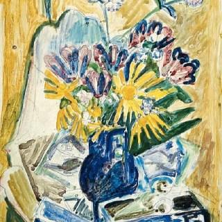 Ernst-Ludwig Kirchner: Blumen in Vase, 1918/19, Foto: Lehmbruck Museum