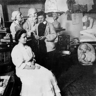 Anita und Wilhelm Lehmbruck im Atelier in Düsseldorf, 1908, Foto: Lehmbruck Museum