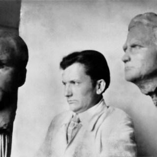 Wilhelm Lehmbruck im Züricher Atelier, Foto: Lehmbruck Museum