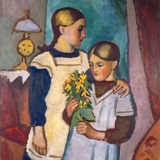 August Macke: Zwei Schwestern, 1911, Foto: Lehmbruck Museum